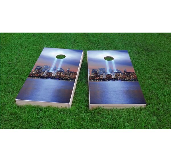 September 11th Light Memorial Light Weight Cornhole Game Set by Custom Cornhole Boards