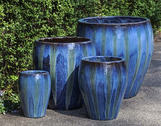 Chantal 4-Piece Ceramic Pot Planter Set by Campania International