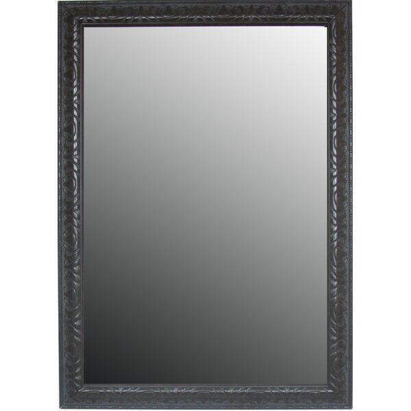 Classic Aged Floral Accents Wall Mirror by Second Look Mirrors
