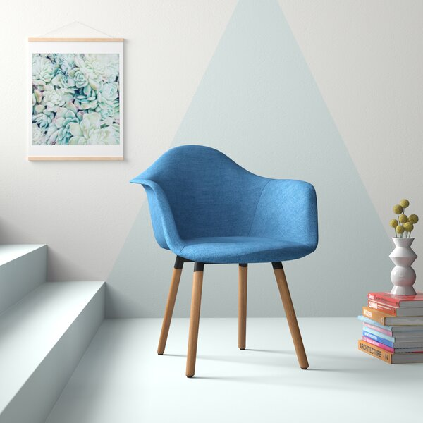 Albia Mid-Century Upholstered Dining Chair by Hashtag Home