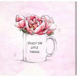 'Enjoy The Little Things' Print on Canvas by Oliver Gal