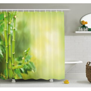 Price comparison Spa Beautiful Asian Bamboos with other Tree Branches and Bushes Image Shower Curtain Set By Ambesonne