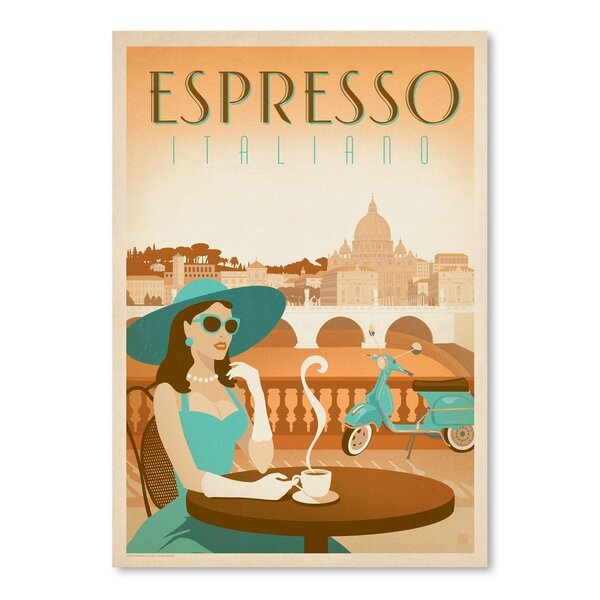Coffee Espresso Vespa Vintage Advertisement by East Urban Home