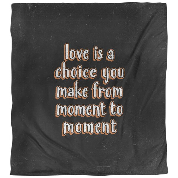 Love Is a Choice Quote Single Duvet Cover