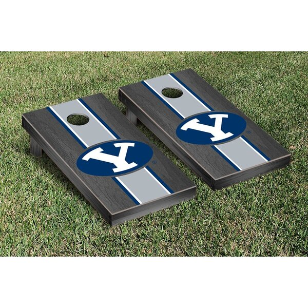 NCAA Stained Stripe Version 2 Cornhole Game Set by Victory Tailgate