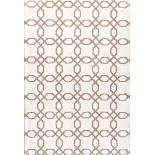 Best Reviews Lowes White/Beige Area Rug By Winston Porter