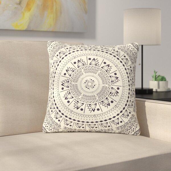 Famenxt Swadesi Boho Mandala Illustration Outdoor Throw Pillow by East Urban Home