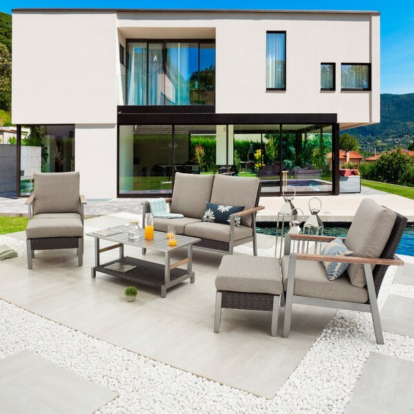 Sevtap Outdoor 6 Piece Sofa Seating Group with Cushions by Latitude Run
