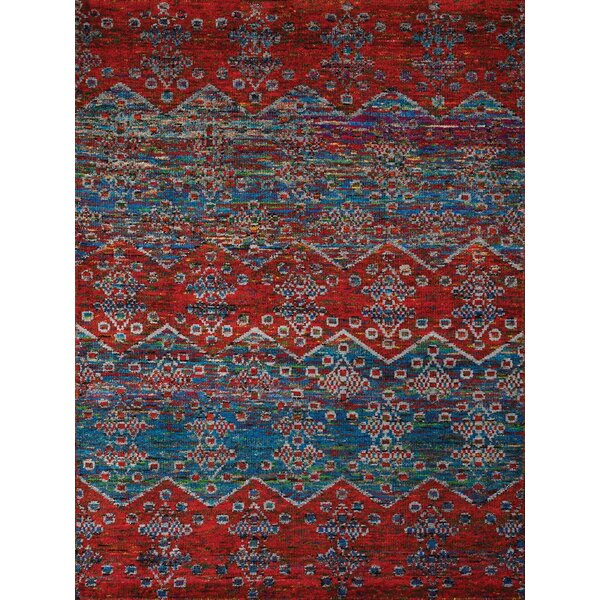 Pouncy Blue/Red Area Rug by Bloomsbury Market