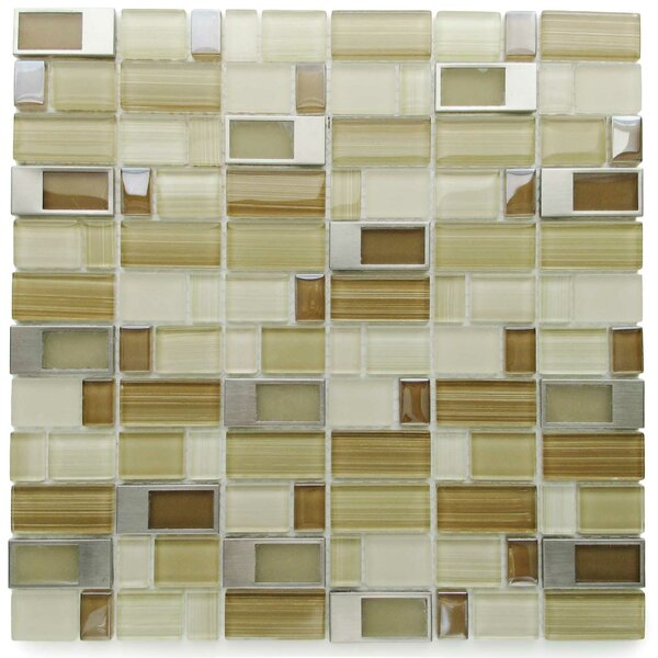 Clasp Alternative Glass Mosaic Tile in Brown/Bare by Tile Focus