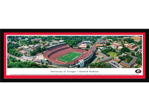 NCAA Georgia, University of - Aerial by George S. Pearl Framed Photographic Print by Blakeway Worldwide Panoramas, Inc