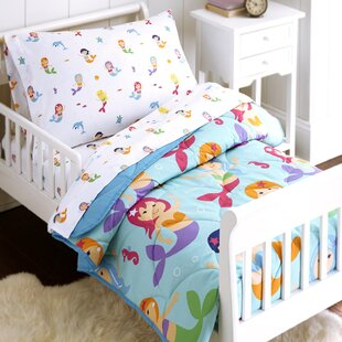 mermaids 4 piece toddler bedding set - Toddler Girl Bedding