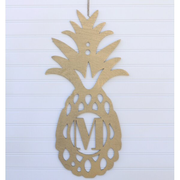 Pineapple Monogrammed Wall Décor by Bay Isle Home