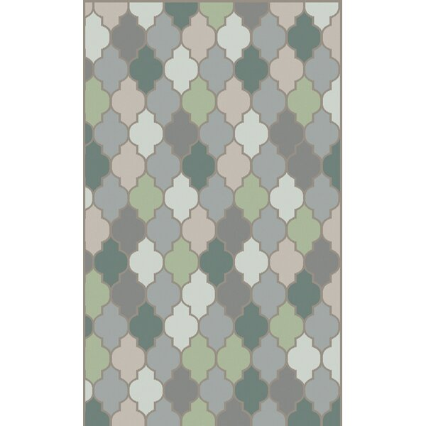 Mazzarella Moss Geometric Area Rug by Latitude Run