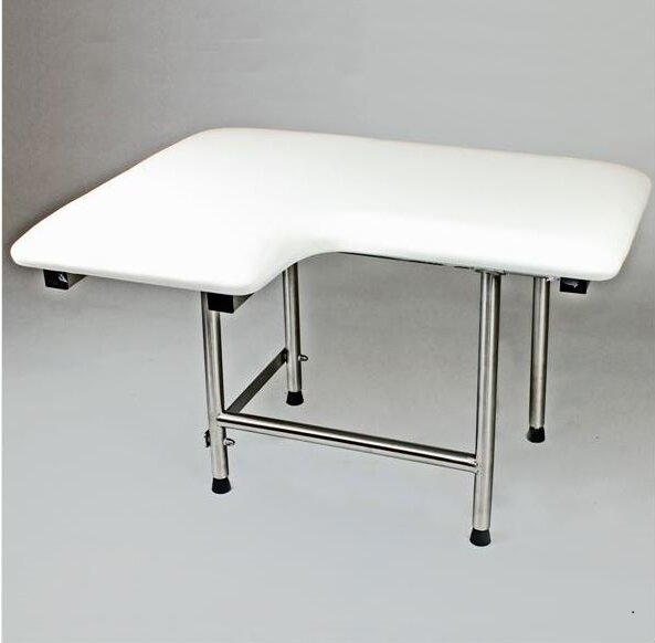 Right Hand Padded Shower Seat by CSI Bathware