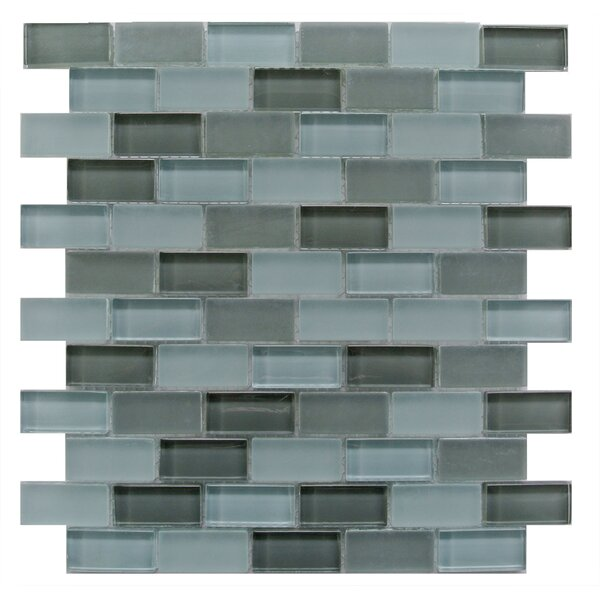 Free Flow 1 x 2 Glass Mosaic Tile in Turquoise by Abolos