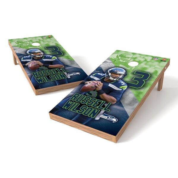 NFLPA Seahawks Russell Wilson Cornhole Board by Tailgate Toss