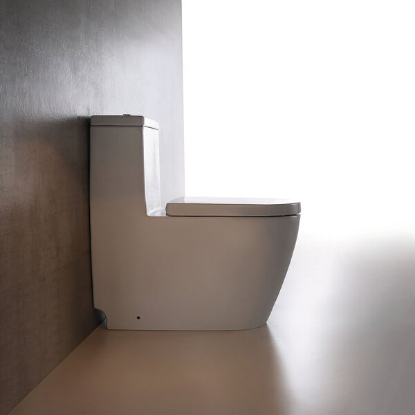 Dual Top-Mount Flush 1.28 GPF Elongated Comfort Height Toilet by Jade Bath