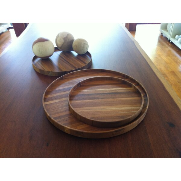 Yamaguchi Laminated Teak Accent Tray by Millwood Pines