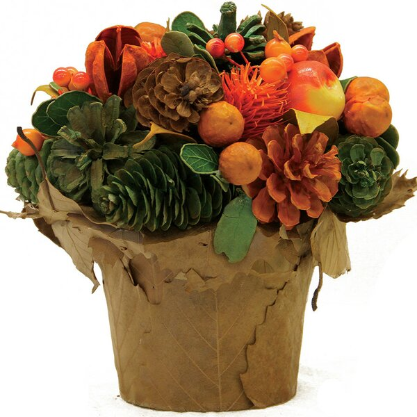 Autumn Harvest Pinecone and Berries Artificial Potted Floral Centerpiece by Northlight Seasonal