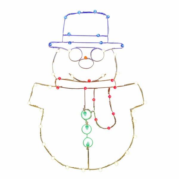 LED Snowman C7 Wire Motif by Vickerman