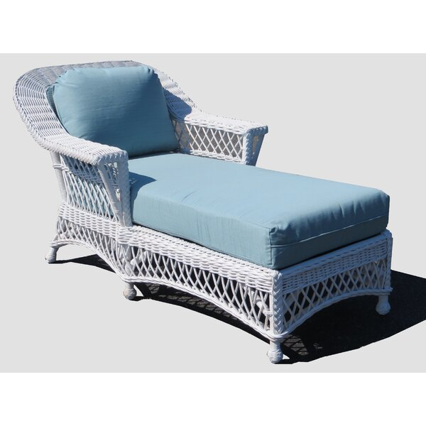 Rosado Chaise Lounge with Cushion by Bay Isle Home