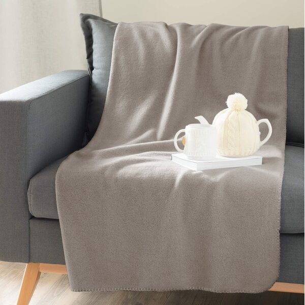 Solid Throw Blanket by Linen Depot Direct