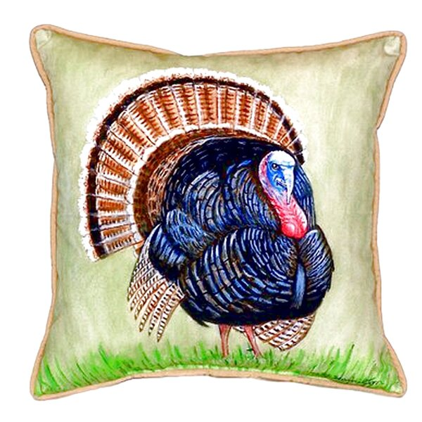 Wild Turkey Indoor/Outdoor Throw Pillow by Betsy Drake Interiors