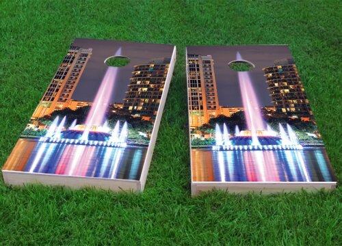 Orlando Lake Eola Fountain Cornhole Game (Set of 2) by Custom Cornhole Boards