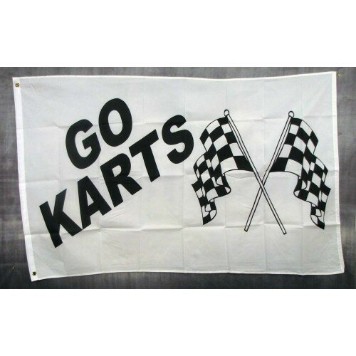 Go Karts Polyester 3 x 5 ft. Flag by NeoPlex
