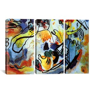 'The Last Judgment' by Wassily Kandinsky 3 Piece Painting Print on Wrapped Canvas Set by Zipcode Design