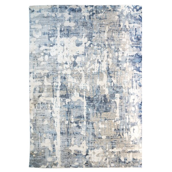 One-of-a-Kind Erica Dark Gray/Cream Area Rug by World Menagerie