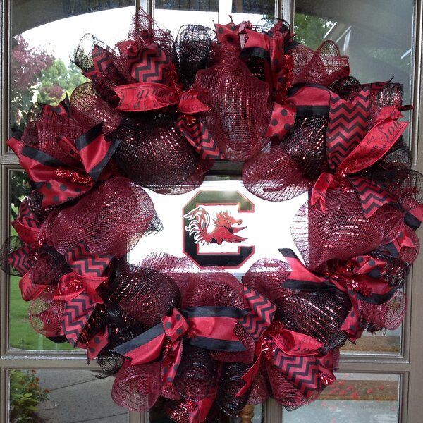 South Carolina Game Cocks Collegiate 26 Wreath by Flora Decor