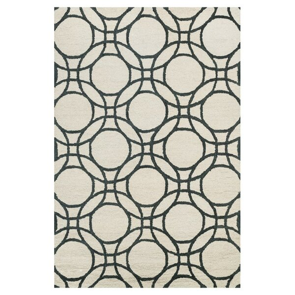 Durgin Hand-Tufted Ivory/Black Area Rug by Darby Home Co