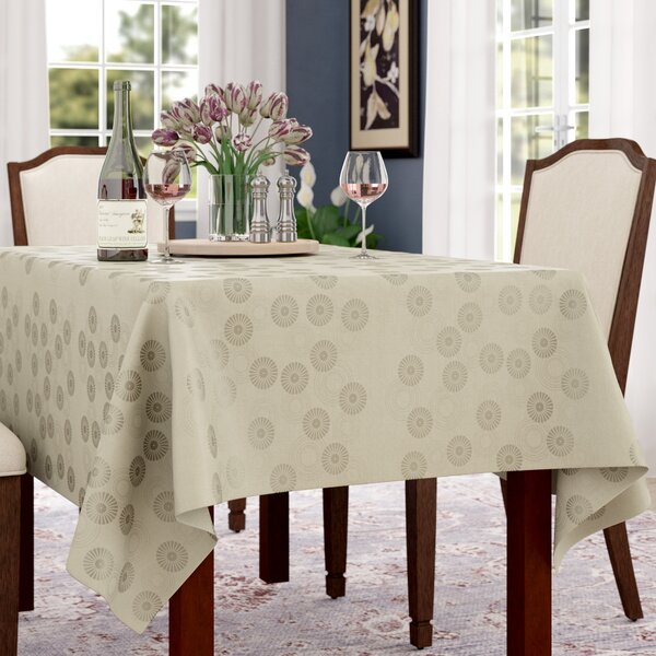 Langlie Rectangular Jacquard Tablecloth by Darby Home Co