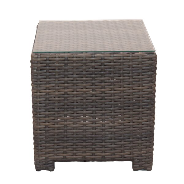 Cribbs Wicker/Rattan Side Table by Highland Dunes