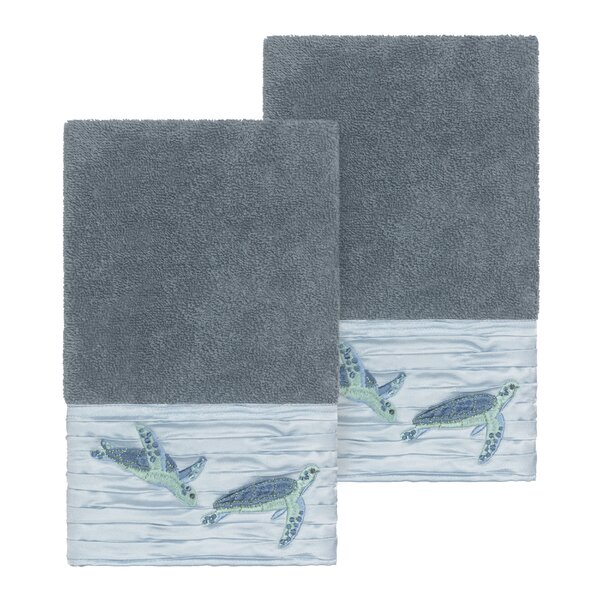 Swick Embellished Turkish Cotton Hand Towel (Set of 2) by Bay Isle Home