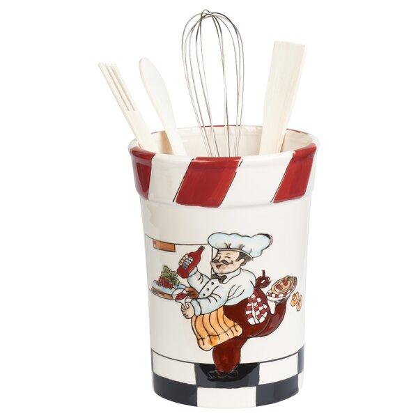 5 Piece Chef Ceramic Utensil Crock Set by Lorren Home Trends