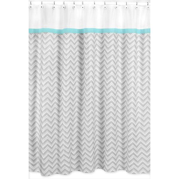 Zig Zag Cotton Shower Curtain by Sweet Jojo Designs