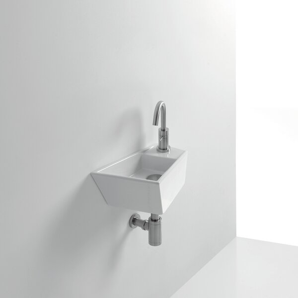 Whitestone Micro Ceramic 16 Wall Mount Bathroom Sink with Overflow by WS Bath Collections