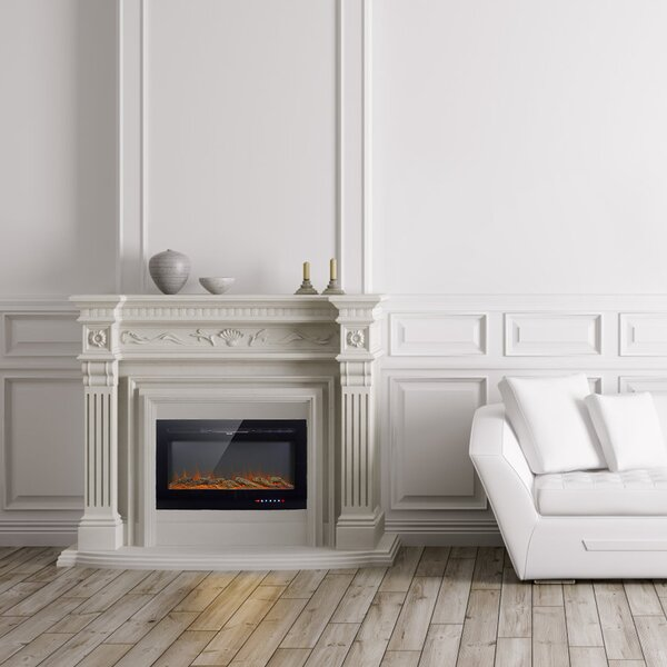 Pakize Recessed Wall Mounted Electric Fireplace By Latitude Run