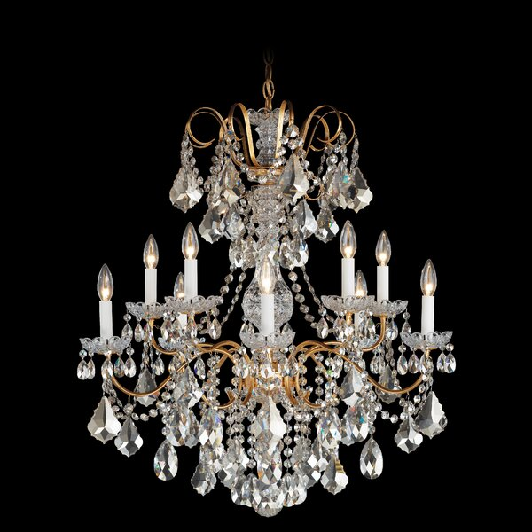 New Orleans 10 - Light Candle Style Empire Chandelier by Schonbek Schonbek