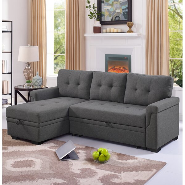 Best Reviews Platte Right Hand Facing Sleeper Sectional by Winston Porter by Winston Porter