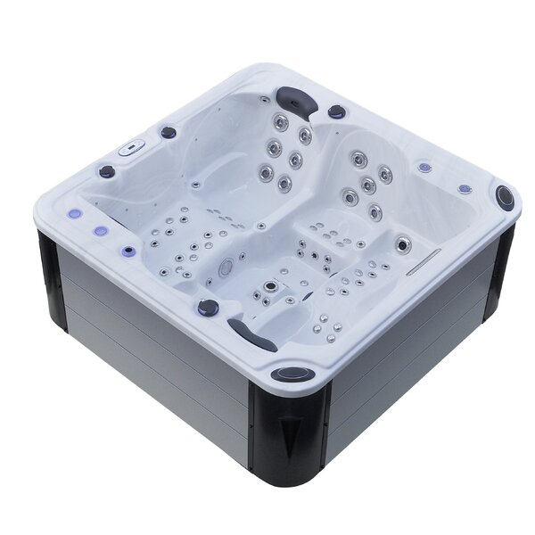 Hurricane 4-Person 102-Jet Spa with LED Lights, Bluetooth and Wi-Fi by Tropic Spa