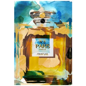 'Beach Perfume' Vintage Advertisement on Wrapped Canvas by Mercer41