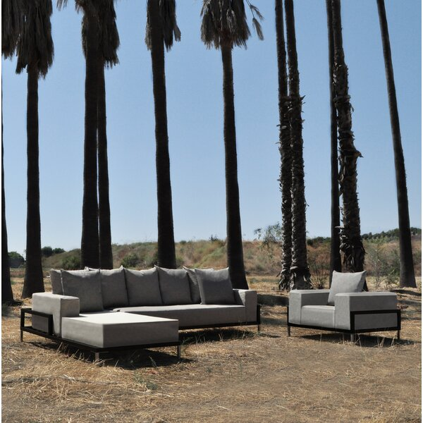 Tilly 3 Piece Sectional Set with Cushions by Orren Ellis