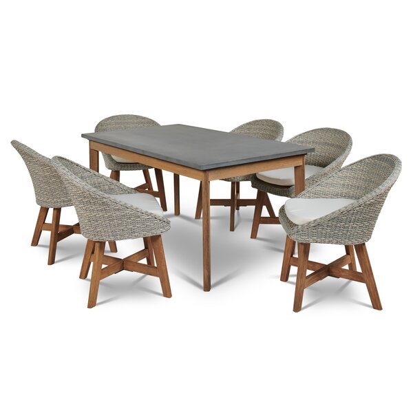 Cearley 7 Piece Dining Set with Cushions by Rosecliff Heights