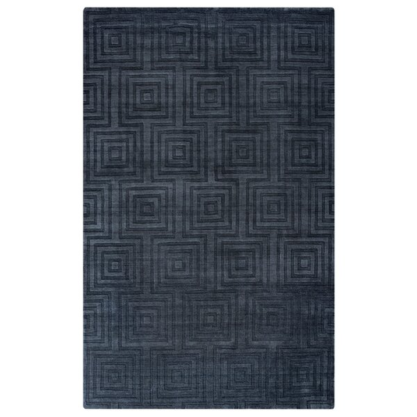 Elizabeth Hand-Loomed Charcoal Area Rug by Meridian Rugmakers