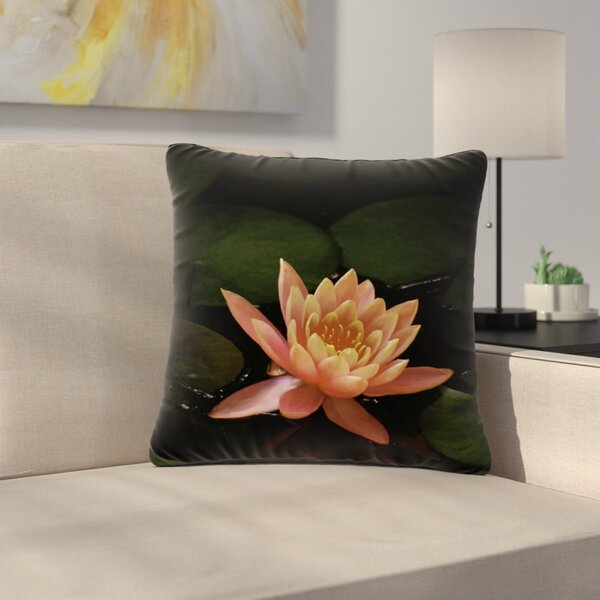 Nick Nareshni Lily Pad Flower Outdoor Throw Pillow by East Urban Home