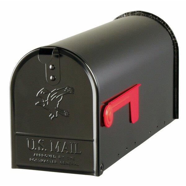 Elite 7 in x 9 in Steel  Post Mounted Mailbox by Gibraltar Mailboxes